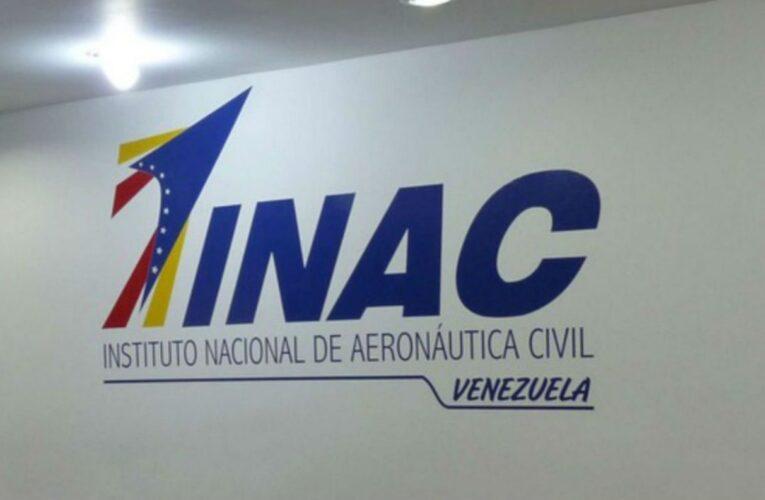 INAC reitera que los vuelos están suspendidos