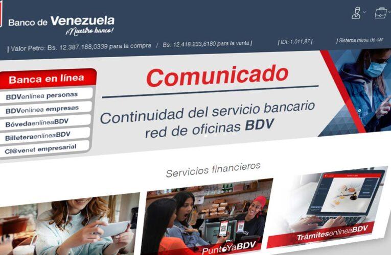 Banco de Venezuela aumentó límites de transferencias y pagos