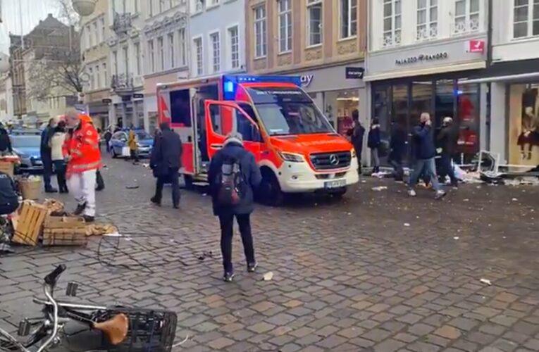 Arrollamiento múltiple deja cuatro muertos y varios heridos en Alemania