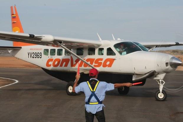 Conviasa realiza vuelos desde La Carlota
