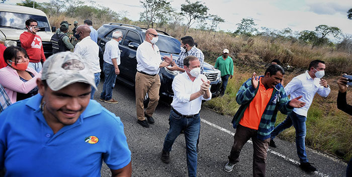 GNB intentó bloquear paso de dirigentes opositores