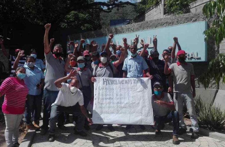 En paro administrativo siguen trabajadores de Hidrocapital