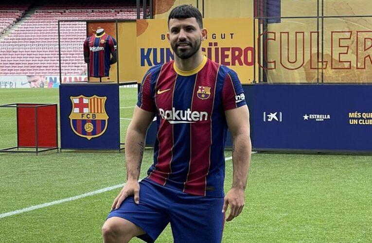 Barcelona presentó al «Kun» Agüero