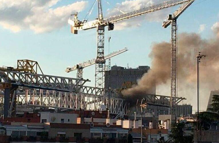 Sofocan incendio en las obras del Santiago Bernabéu
