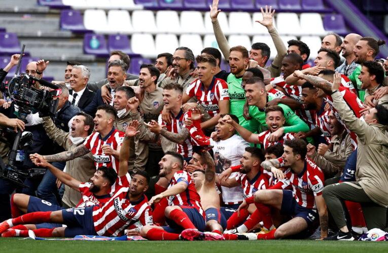 Atlético de Madrid se coronó campeón