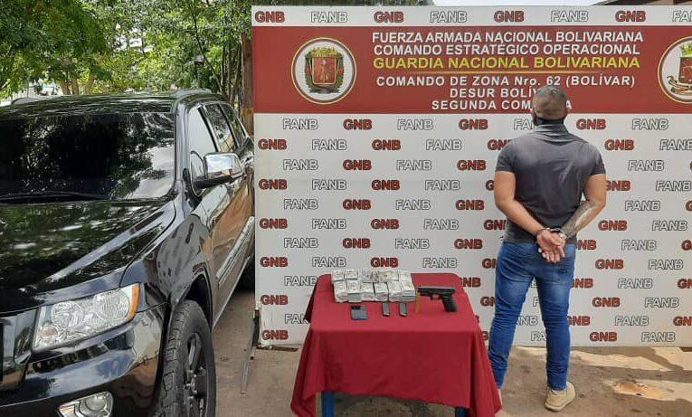 Capturan a traficante con $650.000 en efectivo en San Félix