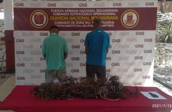Hurtaban cables en La Veguita cuando los atrapó la GNB