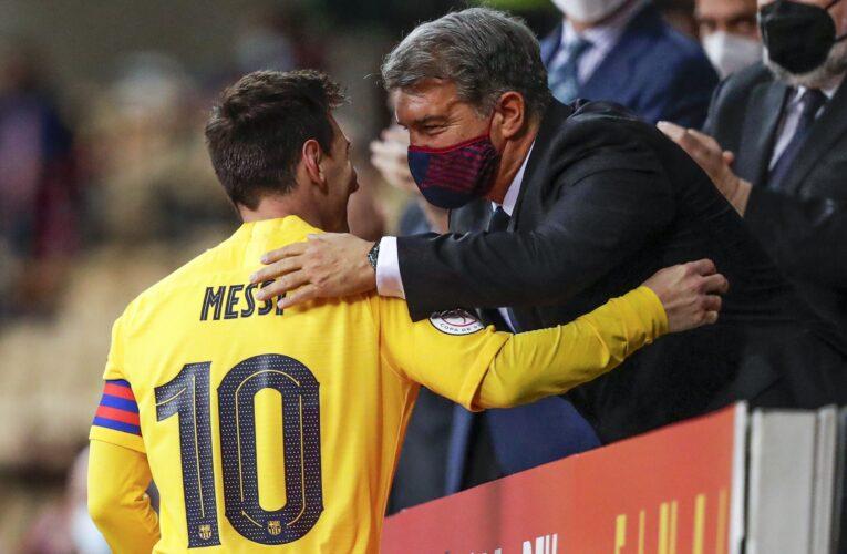 Messi y Barcelona pactan por cinco años