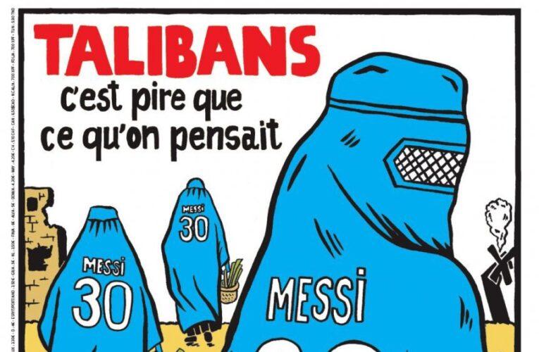 Charlie Hebdo vincula al PSG con los talibanes