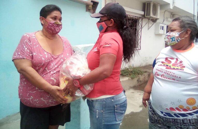 Mercal entregó alimentos a 835 familias