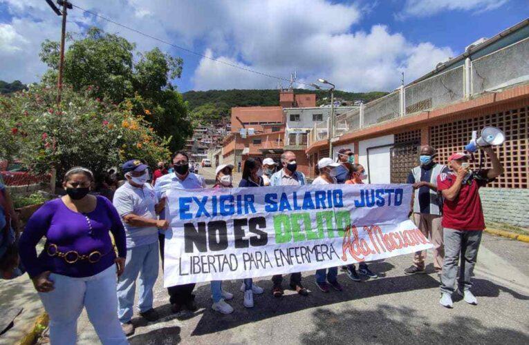 Libertad para la enfermera Ada Macuare exigen trabajadores del sector salud