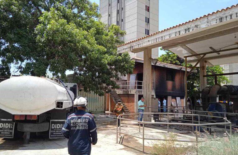 Incendio en la estación de bombeo de la calle Tacagua
