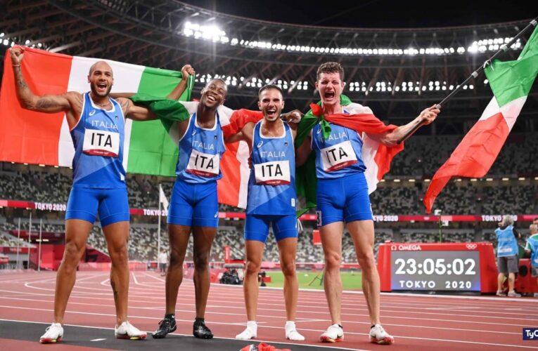 Italia sorprende en los relevos de 4×100 metros