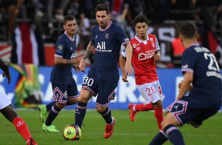 Messi debutó y el PSG le ganó al Reims