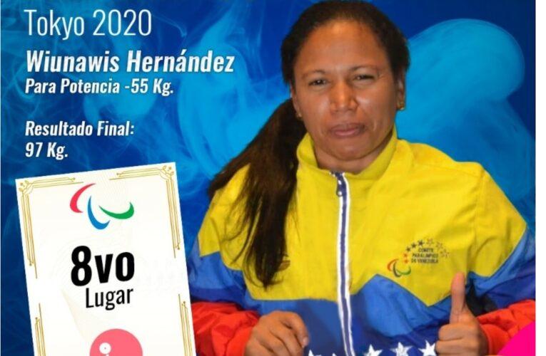 Wuinawis Hernández logró diploma paralímpico