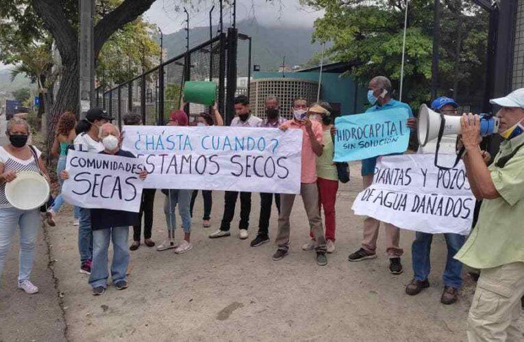 Protestan frente a Hidrocapital por sequía en comunidades