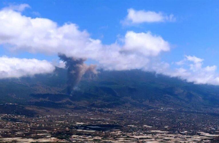 Miles de evacuados por erupción de volcán en España