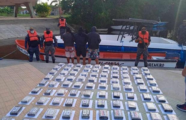 Incautan 109 panelas de coca en Higuerote
