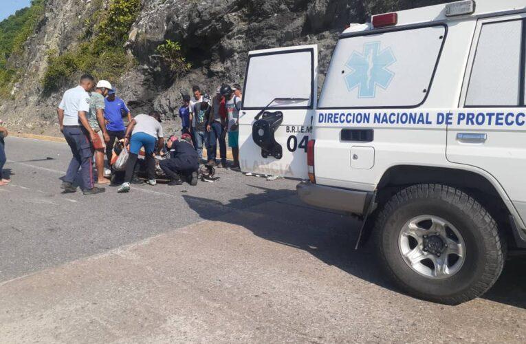 Se estrelló motorizado en Carmen de Uria