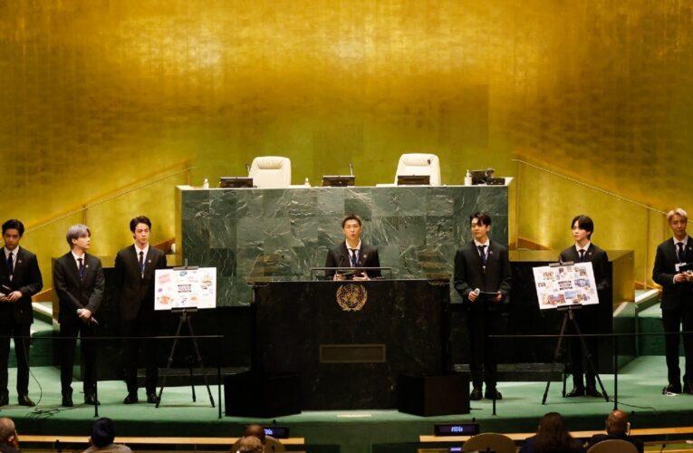 El grupo surcoreano BTS llevó un mensaje para la juventud a la ONU
