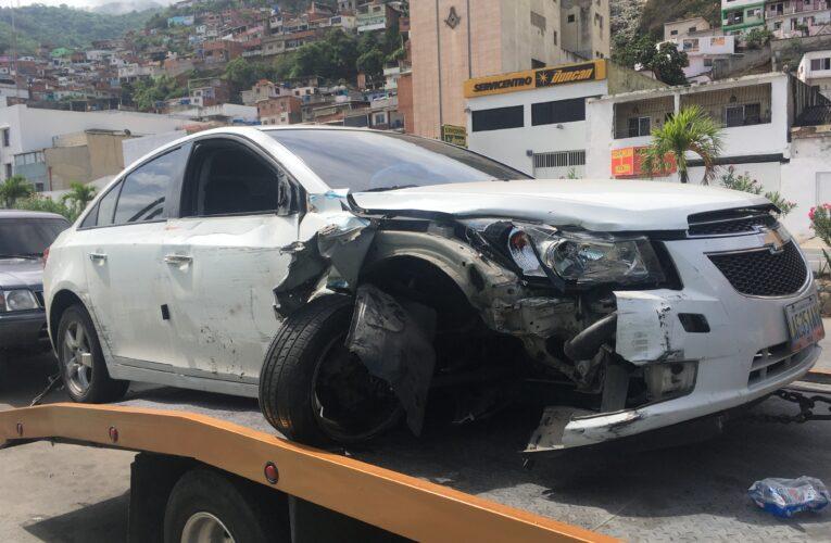 Manejaba ebrio y chocó 8 vehículos en la Soublette