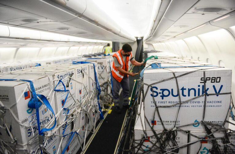 Llegaron 795 mil dosis de Sputnik V
