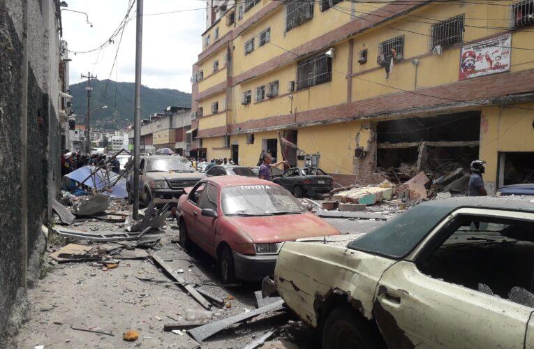 10 heridos por explosión de bombona en Caracas