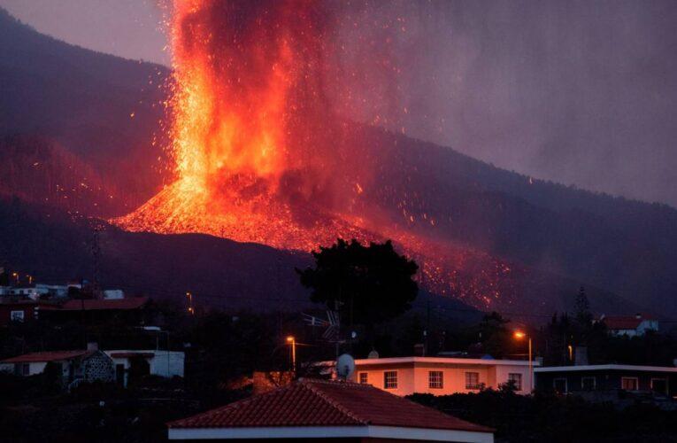 Quiebre del cono del volcán de La Palma amenaza nuevas zonas urbanas