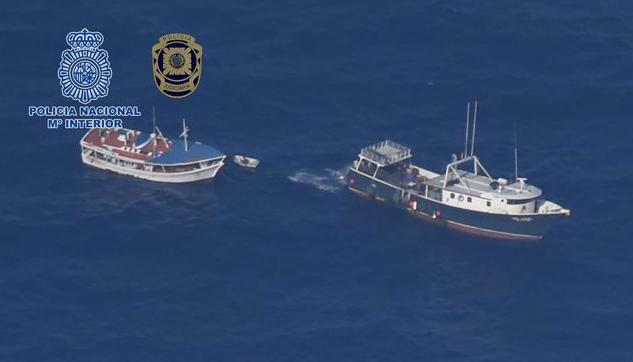 Encuentran 4.248 kilos de cocaína en un pesquero venezolano
