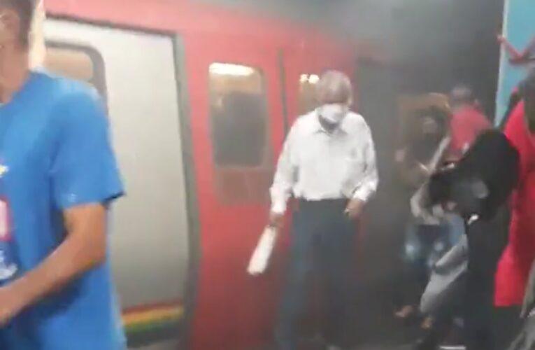 Explotó vagón del Metro en Los Dos Caminos
