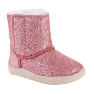 Pink Glitter Girls Boots