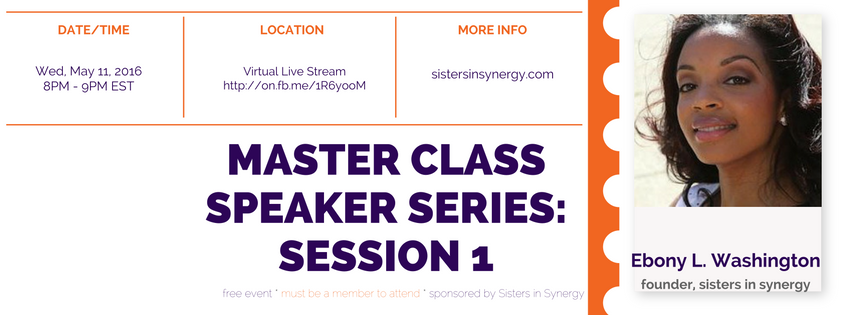Master Class Series - Session 1