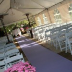 outdoor tent ceremony