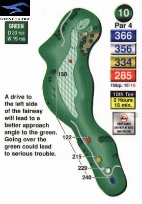 Stonebridge golf course hole 10