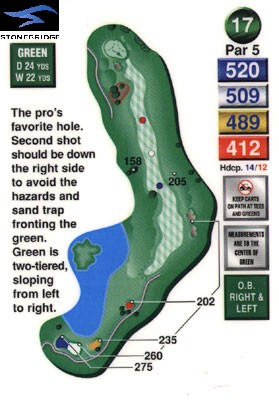 Stonebridge golf course hole 17