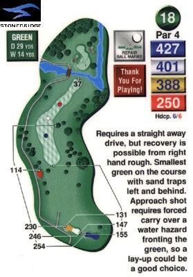 Stonebridge golf course hole 18