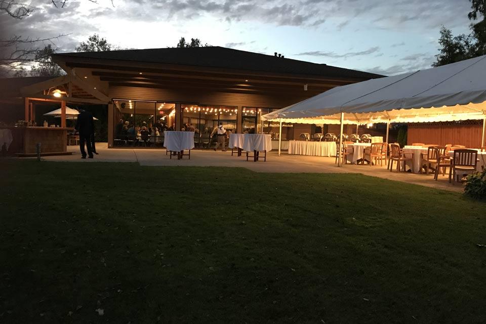outdoor wedding reception space