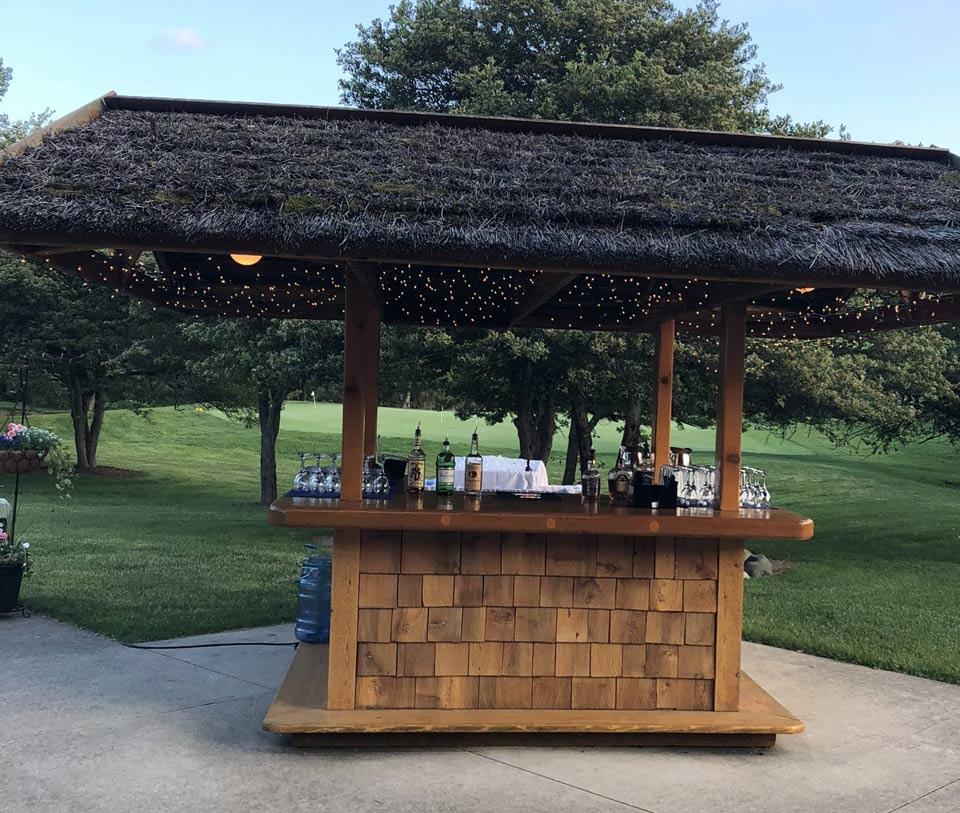 Outdoor Tiki Bar for Wedding Receptions