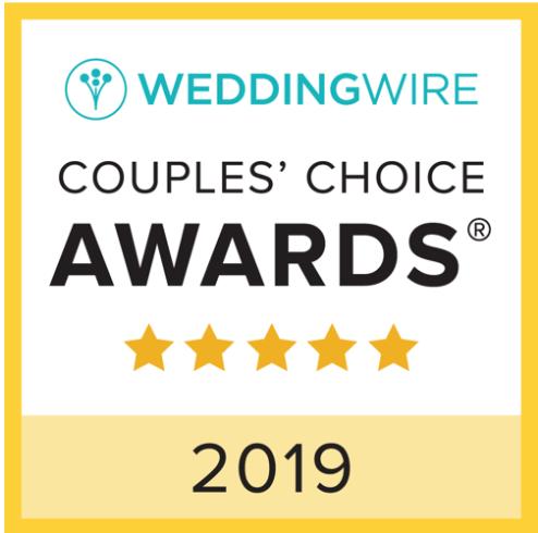 2019 WeddingWire Couple's Choice Award Winner