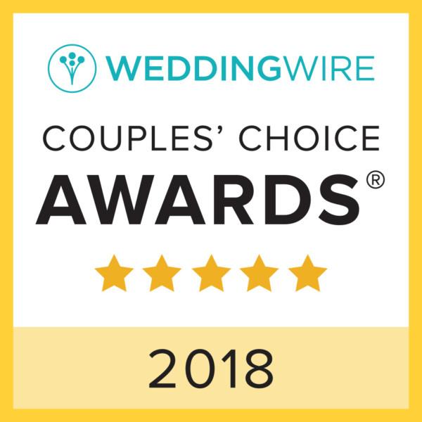 2018 Wedding Wire Couple's Choice Award Winner