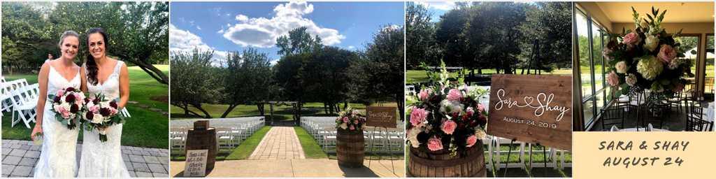 Summer outdoor wedding in ann arbor