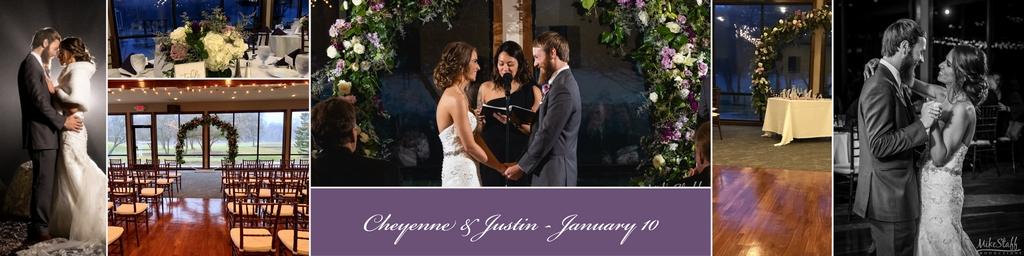 winter january wedding reception