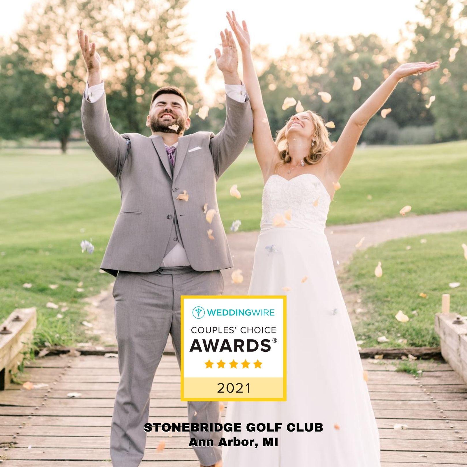 2021 WeddingWire Couple's Choice Award – Top Ann Arbor Wedding Venue