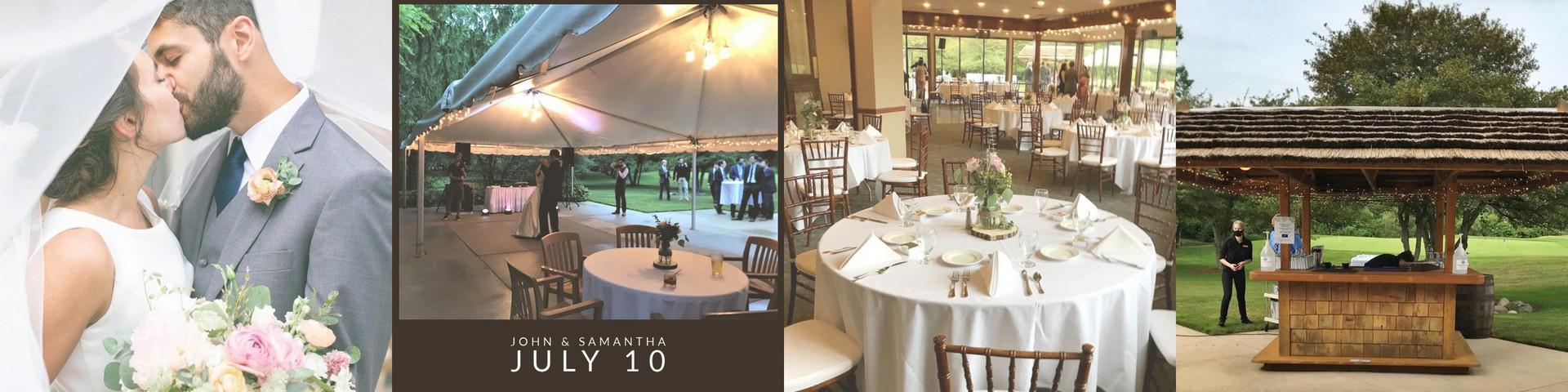 golf course wedding reception
