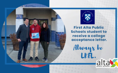 First Alta Public Schools student to receive a college acceptance letter