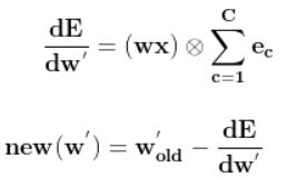 back propagation of skipgram model