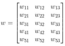 skipgram explained weight matrix for input layer