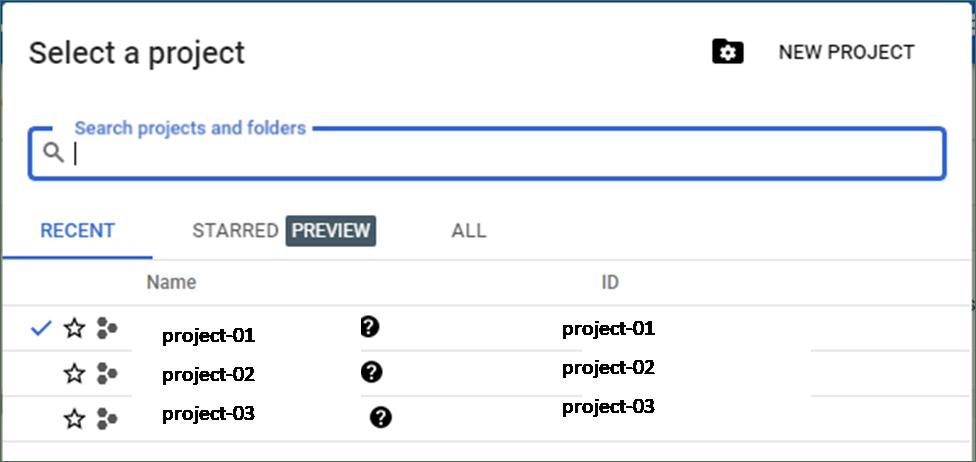 create new project in Google Cloud Platform