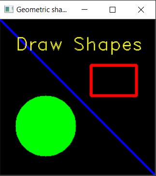 Draw geometric shapes on image using python OpenCV