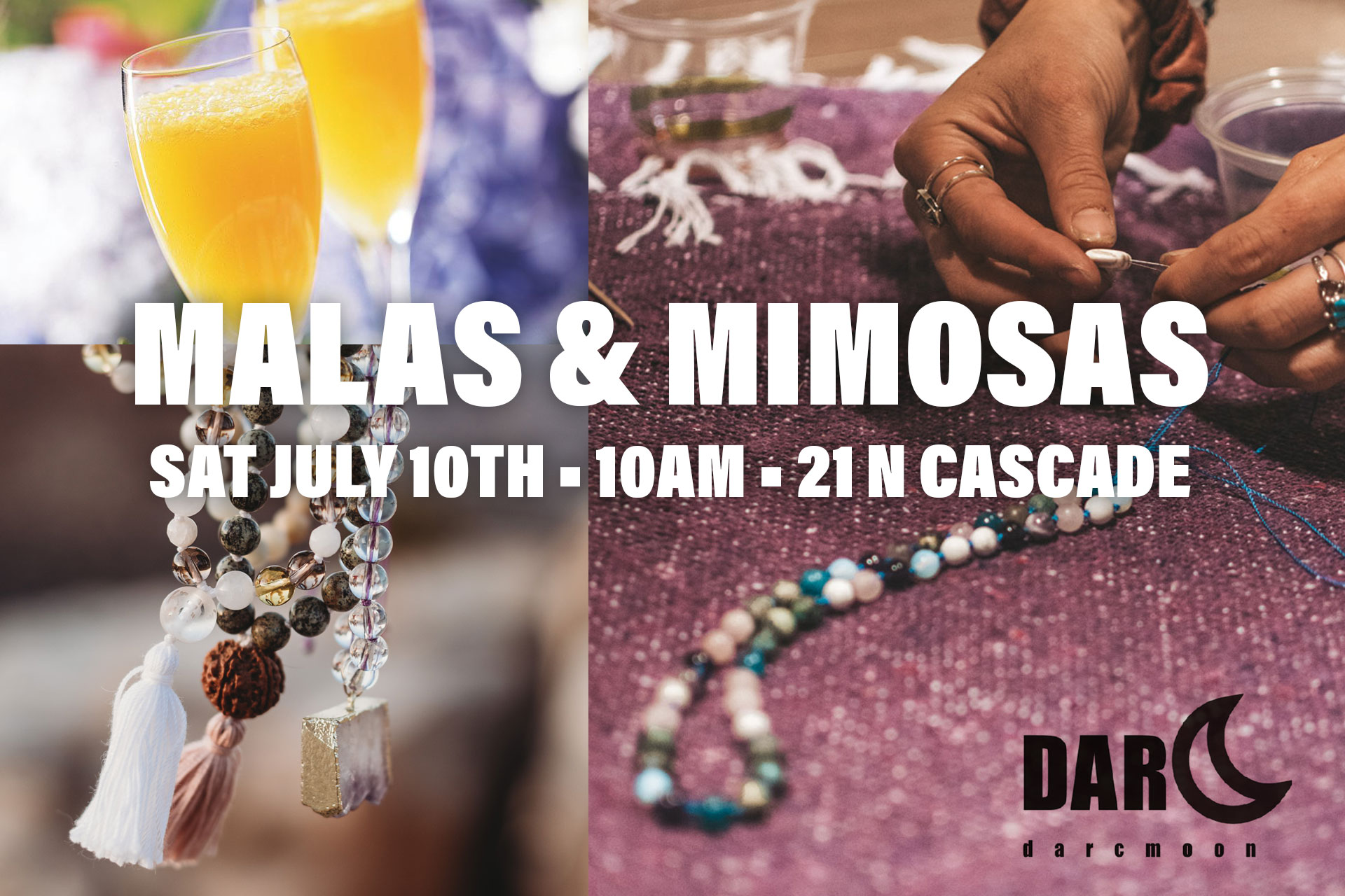 malas and mimosas workshop